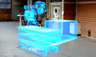 Baustellenroboter, Virtuelle Position über Augmented Reality